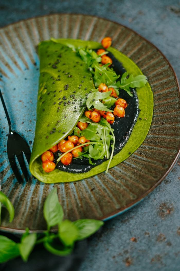 pfannkuchen selber machen halloween rezepte einfach und schnell green pancakes grün halloweenessen