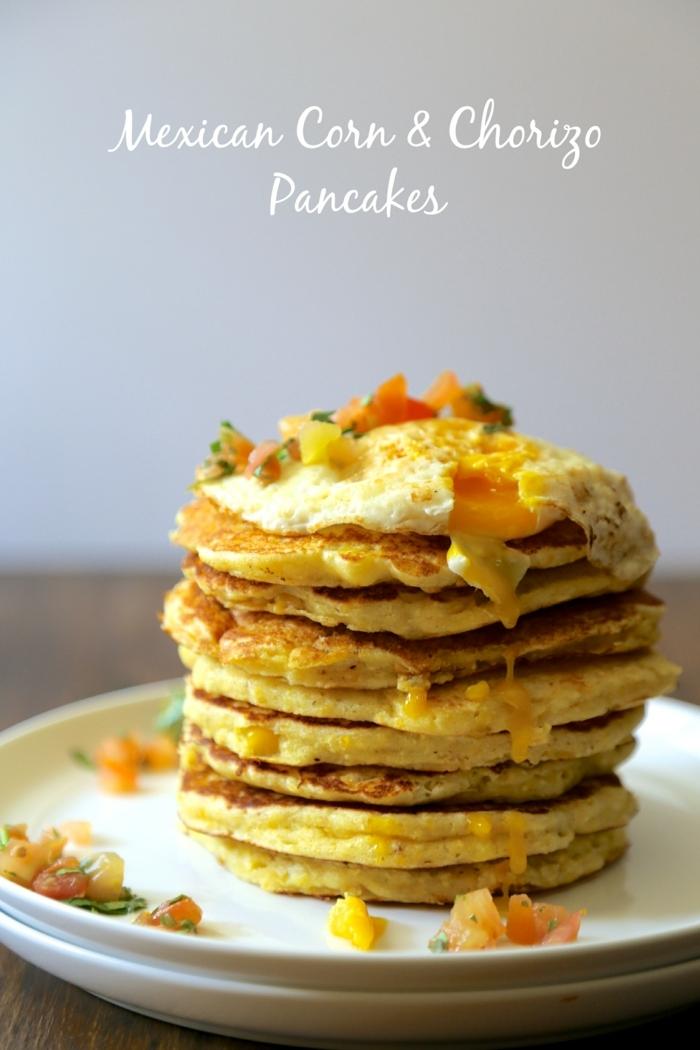 pfannkuchen selber machen mexikanisches rezept mit mais und chorizo was kann ich frühstücken