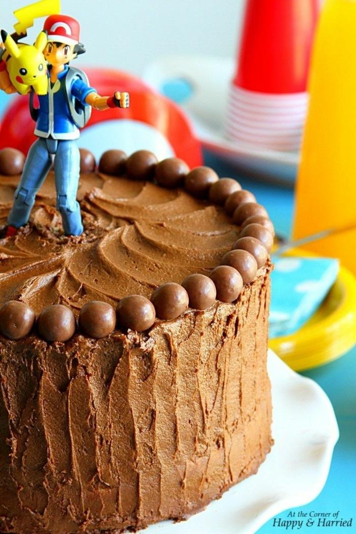 pokemon party motto schokoladenkuchen kindergeburtstag kuchen einfach leckere rezepte diy torten backen