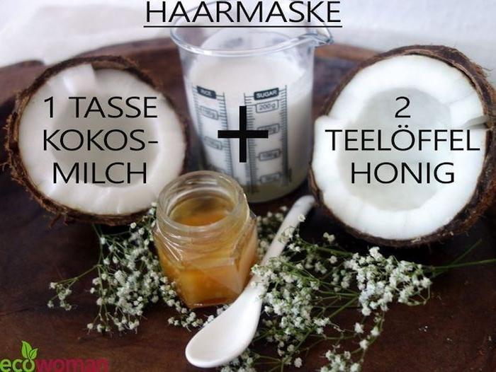 rezept für haarmaske mit kokosmilch und honig gesunde und nahrhafte pflege für die haare haarkur diy