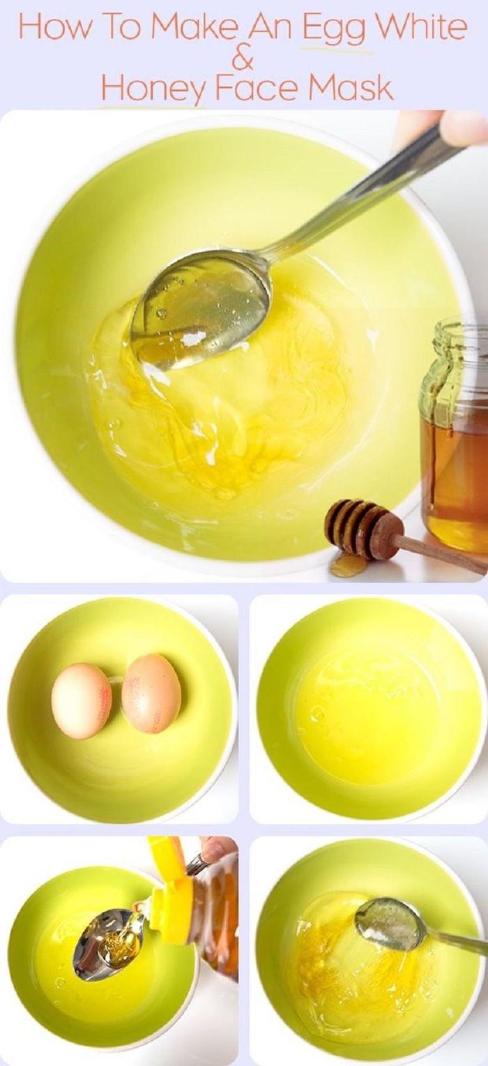 rezept schritt für schritt anleitung haarkur mit ei und honig nahrhafte maske für die haare