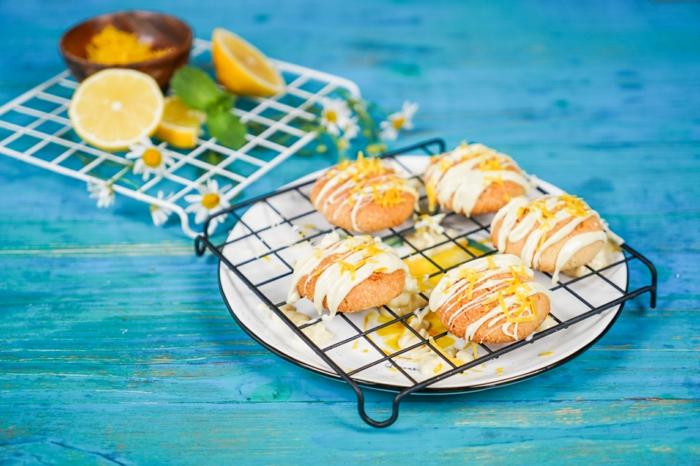 rezepte zum backen gesunde keto zitronenplätzchen plätzchen mit zitrone schnelle kekse