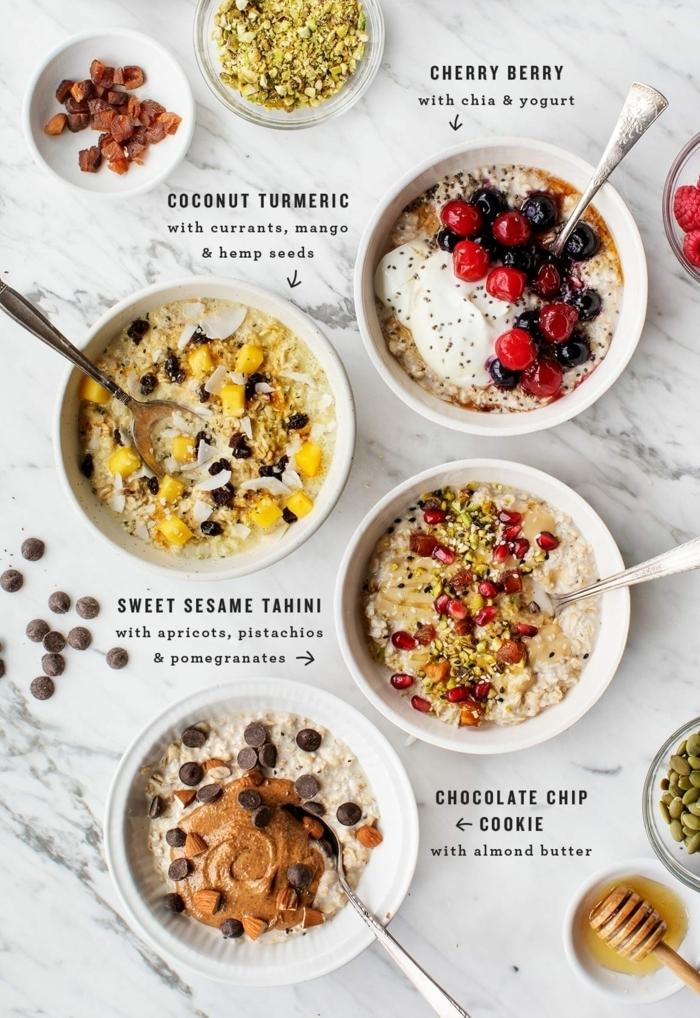 rezepte zum vorbereiten am vortah frühstücksideen gesundes frühstück müsli haferflocken mit beern und chia