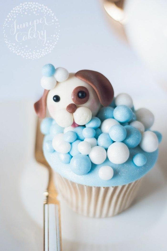 süße cupcakes tiere kleiner hund muffins verzieren mit perlen leckere rezepte zum backen köstliche desserts