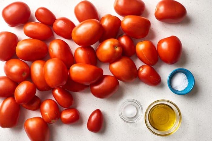 salz und olivenöl wie kann man tomaten einkochen rezepte viele kleine frische rote tomaten