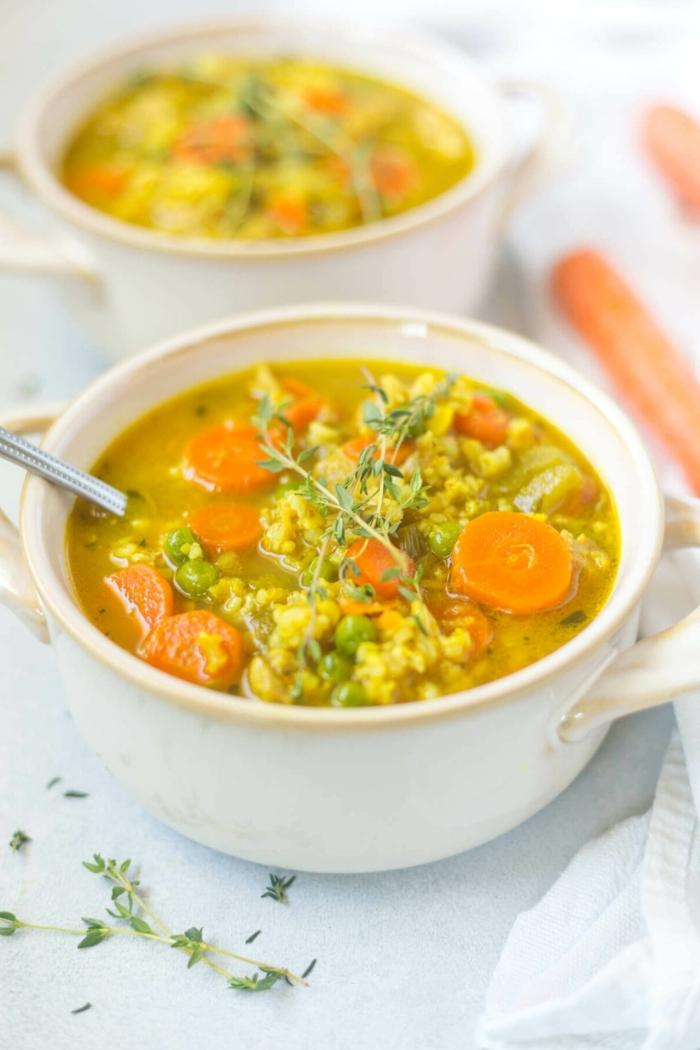 schnelle gerichte für gäste suppe mit gemüse gemüsesuppe selber machen leckere rezepte mittagessen