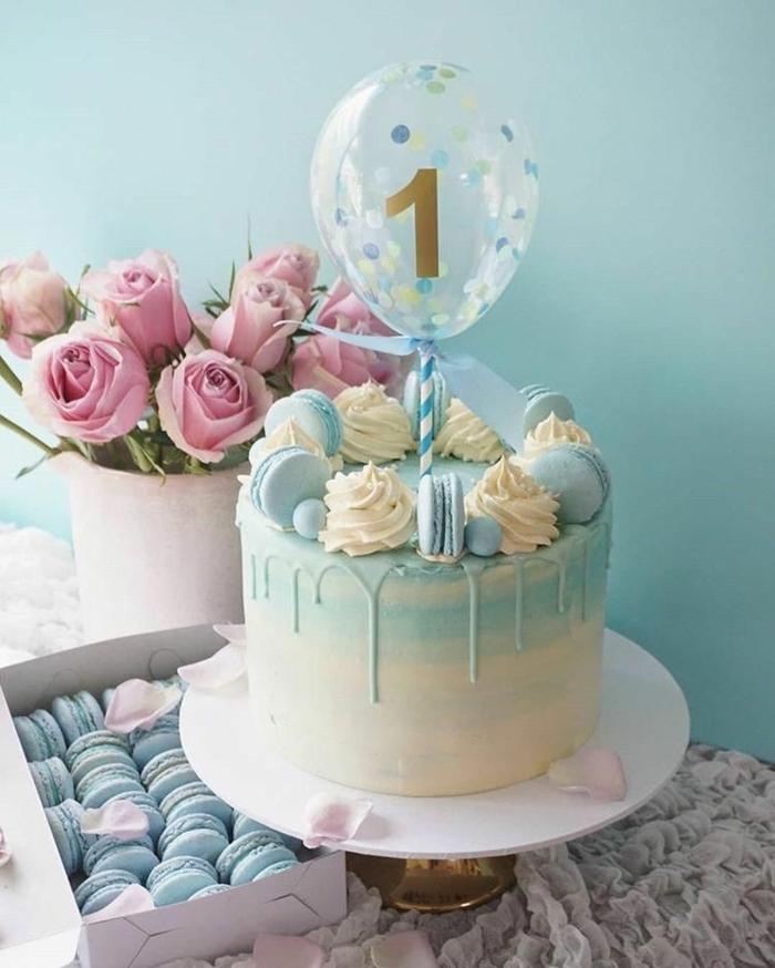 schnelle kuchen für kindergeburtstag für junge tortendeko ideen luftballon mit ziffer torte dekorieren zum geburtstag
