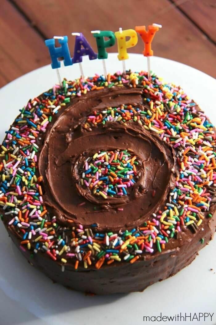 schnelle kuchen für kindergeburtstag mit konfetti leckere rezepte schokoladentorte backen für geburtstag kind