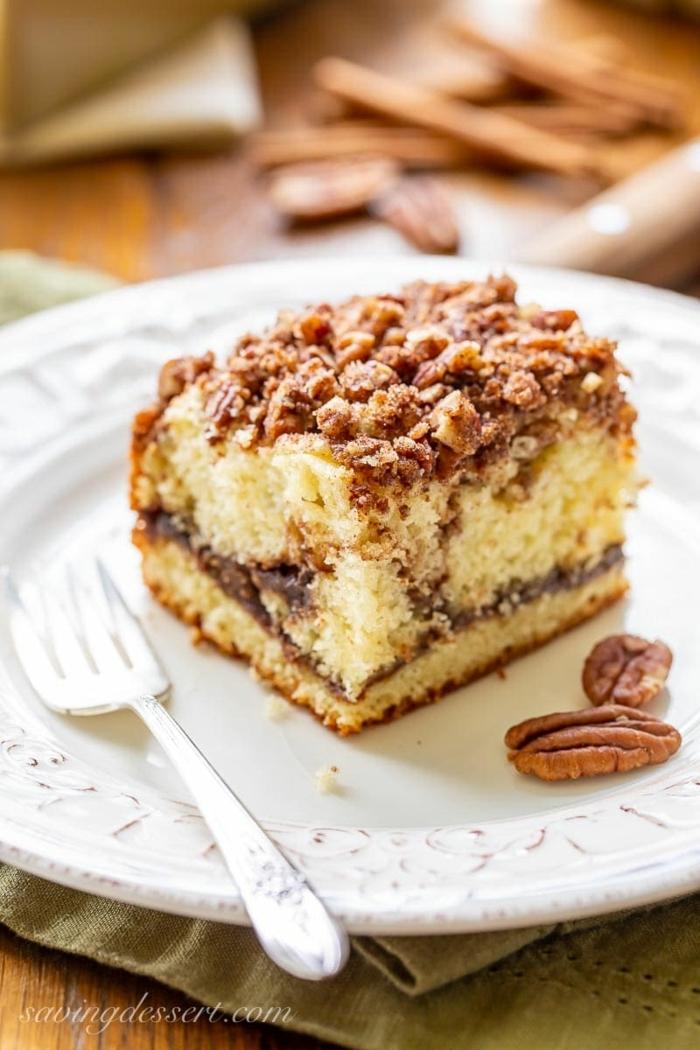 schneller kuchen mit wenig zutaten saure sahne kaffeekuchen einfache rezepte zum backen