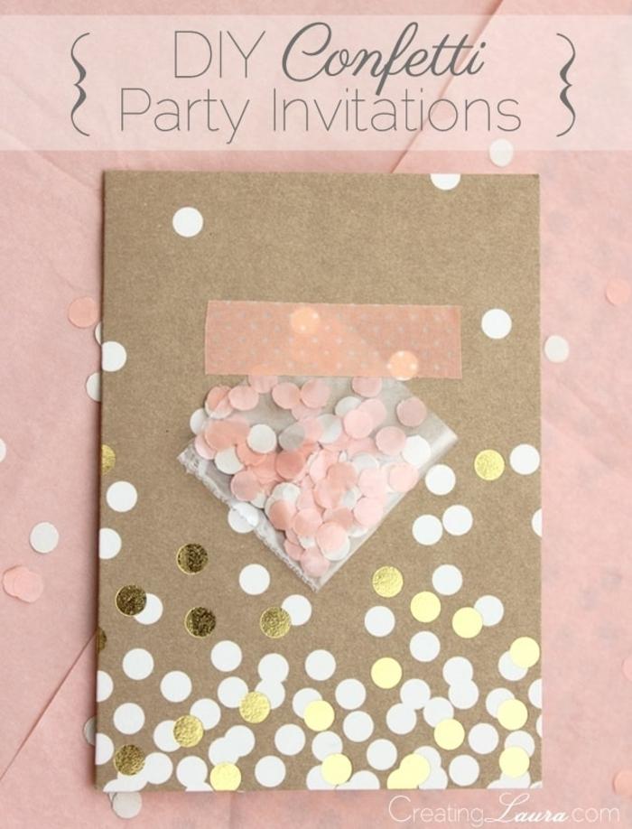 schritt für schritt diy konfetti einladungskarte kindergeburtstag kreative kindergeburtstagskarten