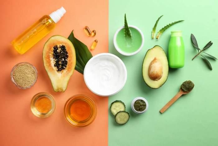 superfoods für die haare haarkur selber machen mit avocado honig basilikum joghurt