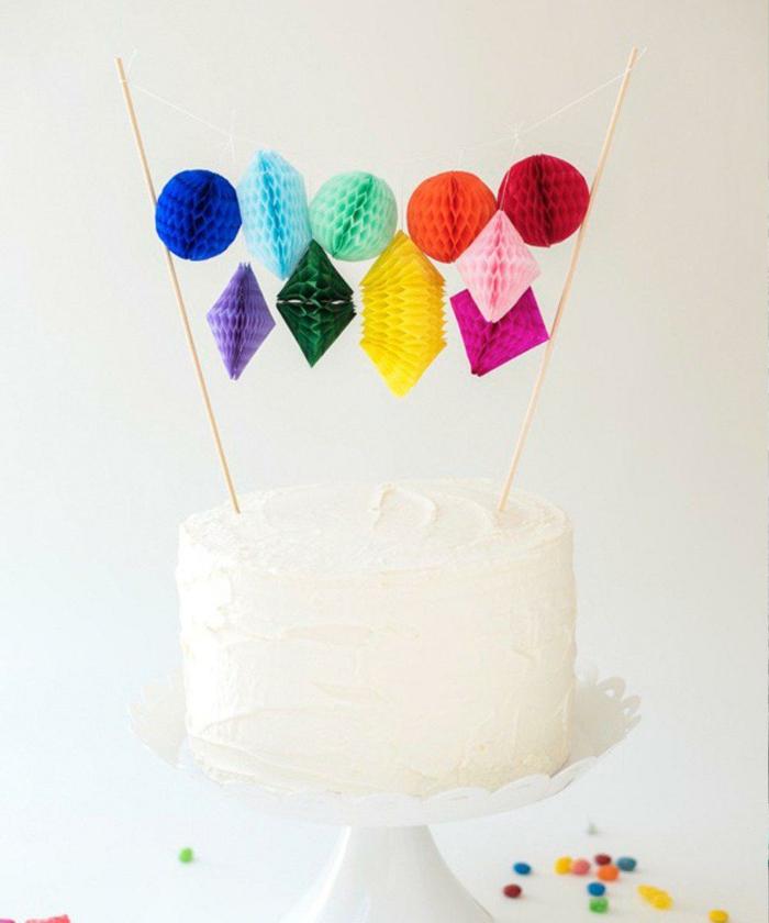 vanille torte mit bunter dekoration geburtstagstorte selber machen torten für kindergeburtstag selber machen