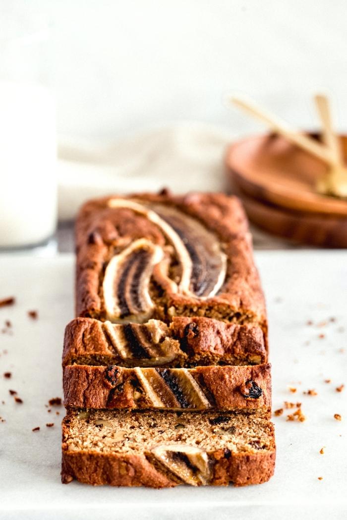 vegan banana bread brot selber backen backrezepte einfach und schnell bananenkuchen