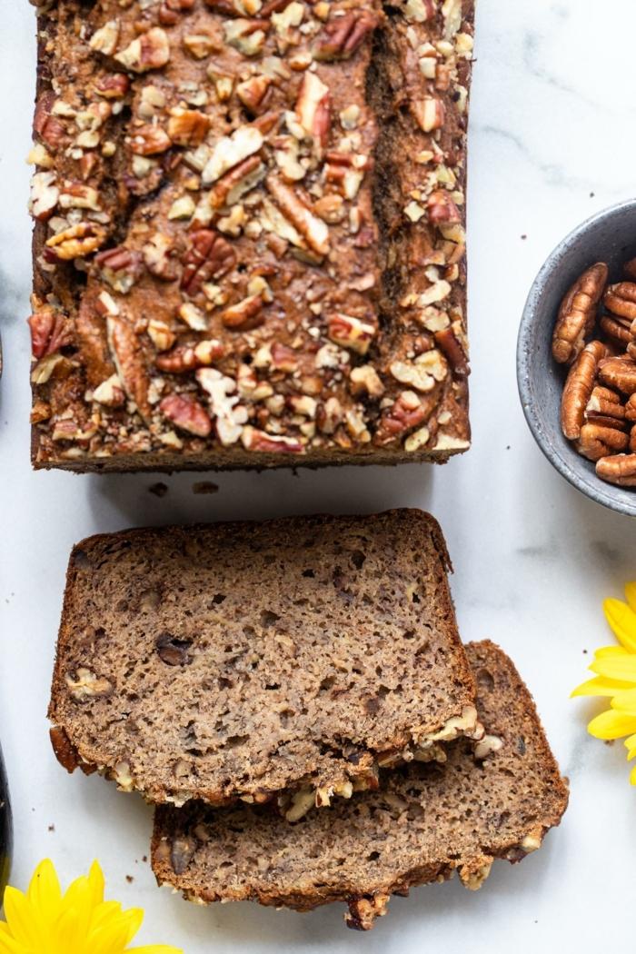 vegan banana bread mit walnüssen bananenbrot rezepte brotrezepte kuchen mit nüssen