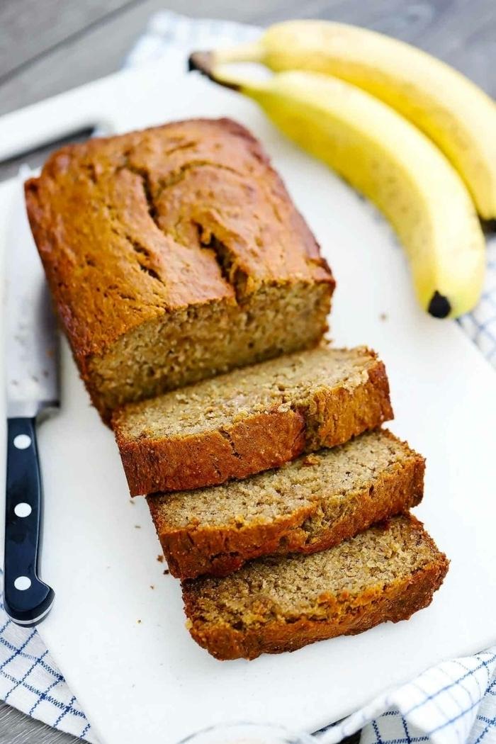 vegan banana bread selber machen schnelle rezepte bananenkucehn kuchen mit bananen