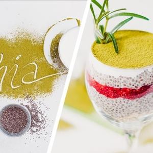 vegetarische partarezepte zum pvorbereiten archzine studio veganer pudding mit chia samen matcha und himbeeren