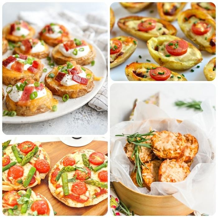 vegetarisches essen rezepte für gäste picknickrezepte partyfood ideen häppchen mini pizzas
