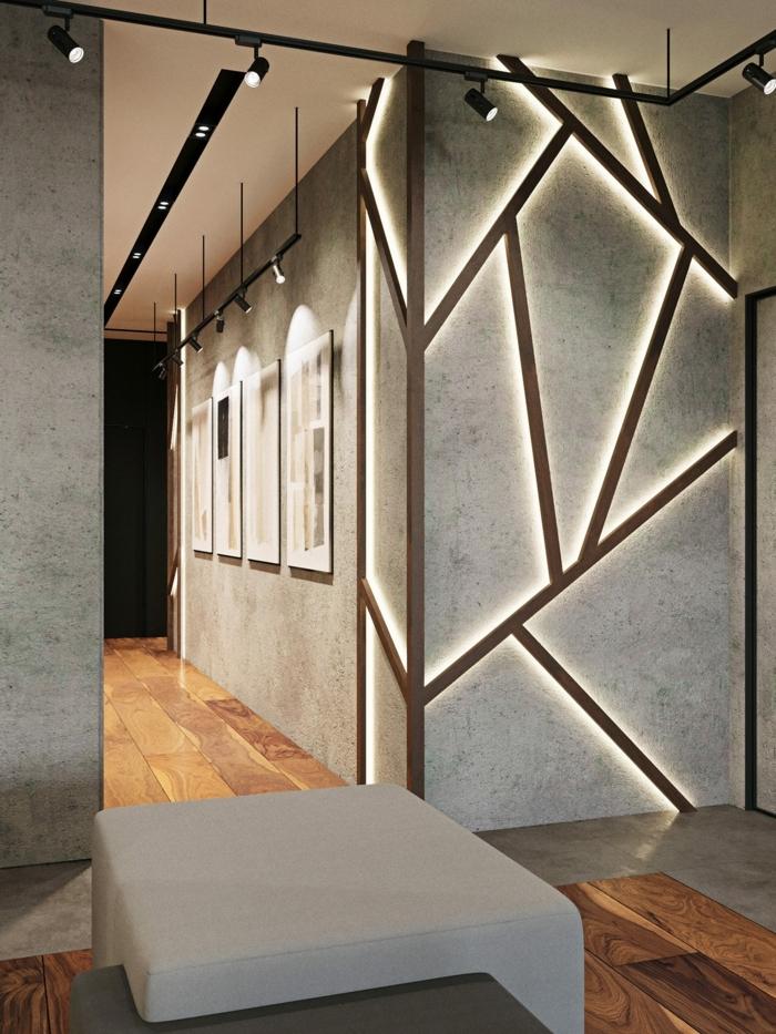 wandgestaltung mit farbeflurdeko ideen flurgestaltung in grau flurbeleuchtung beispiele wohnung einrichten