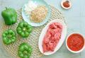 Gefüllte Paprika – mit Hackfleisch, Tomatensoße, Feta-Käse und Couscous
