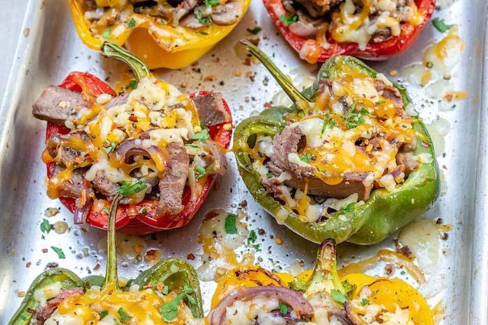 wie kocht man gefüllte paprika vegetarisch gefüllte paprika mit pilzen rezept