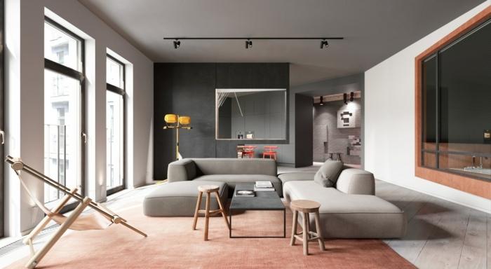 wohnzimmer ideen grau zimmer gestalten wohnung einrichten trendige wandfarben einrichtungsideen wandgestaltung mit farbe