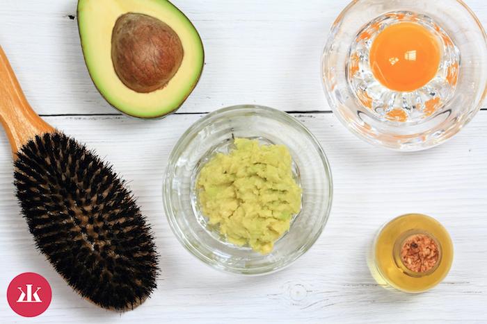 zutaten gesunde haarmaske rezepte haarkur selber machen mit ei und avocado