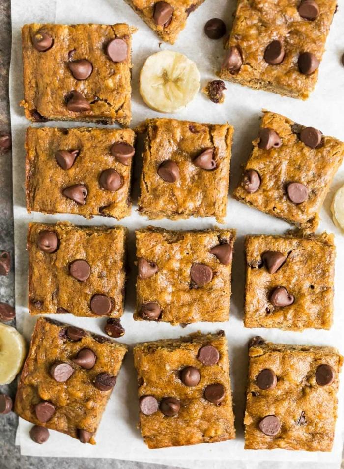 1 rezepte mit bananen bananenriegel mit schokoladenchips high protein backrezepte lecker und einfach