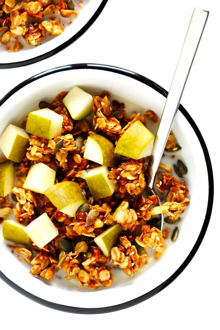 2 müsli selber machen einfach und schnell gesunde rezepte frühstück ideen granola mit äpfeln