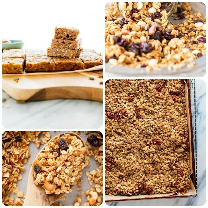 2 müsli selber machen müsliriegel mit honig selsbtgemachte granola zum frühstück frühstücksideen gesund