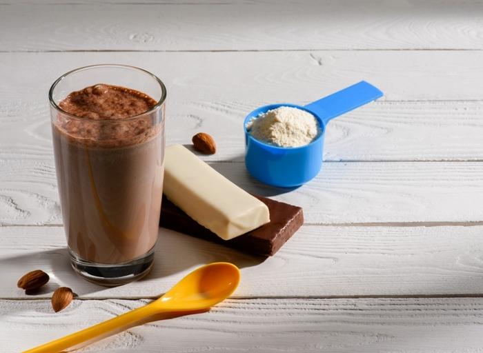 abenhmen mit eiweiß gewciht verlieren schokoaldenshake eiweißshake mit schokolade bester protein shake rezept