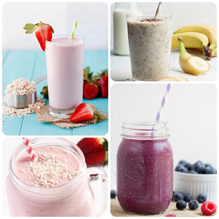 abnehmen mit shakes die besten proteinshakes rezepte eiweißshake selber machen beerenshake getränke mit früchten miclh und protein