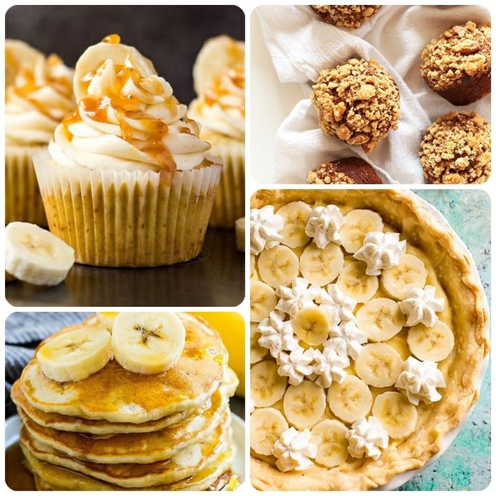 bananenmuffins ohne zucker cupcakes mit bananen brunch ideen pfankuchen backen bananenpie