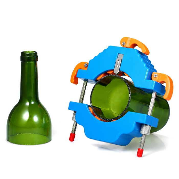diy ideen ein bottle cutter eine grüne geschnittene weinflasche nachhaltige geschenke resized