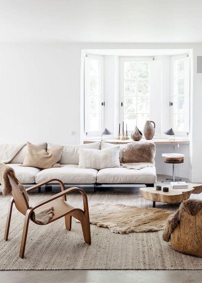 gemütliche inneneinrichtung im skandinavischen stil neutrale farben mit holztönen schwedische möbel interior desing inspo