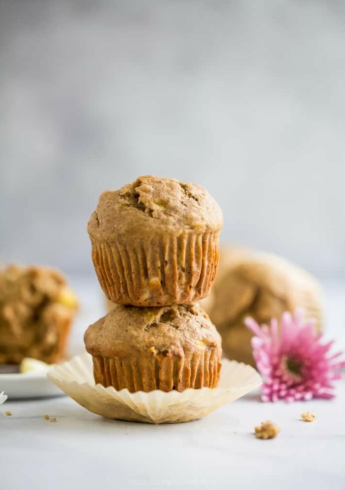 muffins für kinder backrezepte mit bananen cupcakes selber machen rezept mit erdnussbutter und bananen