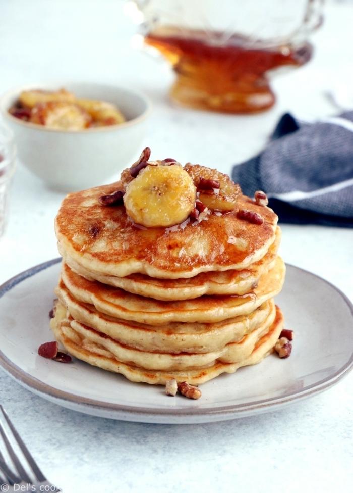 pancakes mit banane pfannkuchen die besten rezepte frühstücksideen amerikanisches frühstück bananenpfannkuchen
