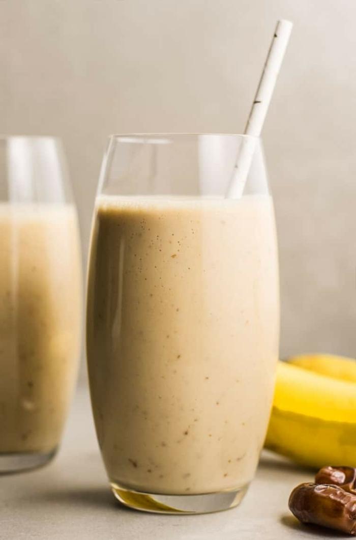 protein zum abnehmen eiweißshake mit bananen und erdnussbutter gewicht verlieren gewichtverlust fördern