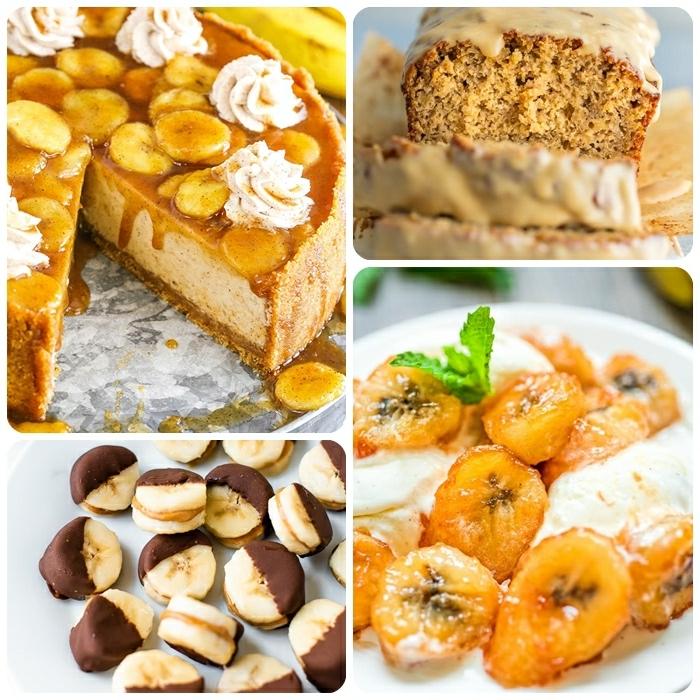 reife bananen verwerten leckere rezepte bananenkuchen bananenbrot mit erdnussbutterglasur cheesecake