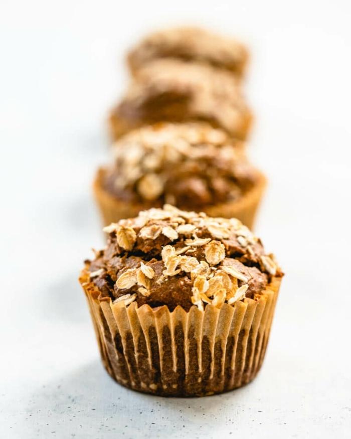 saftige schoko bananen muffins mit haferflocken gesunde rezepte backrezepte einfahc und schnell