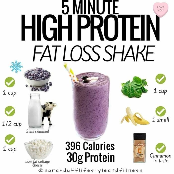 shakes zum abnehmen gewicht verlieren getränke mit proteinpulver rezepte die besten eiweißshakes zum gewichtverlust
