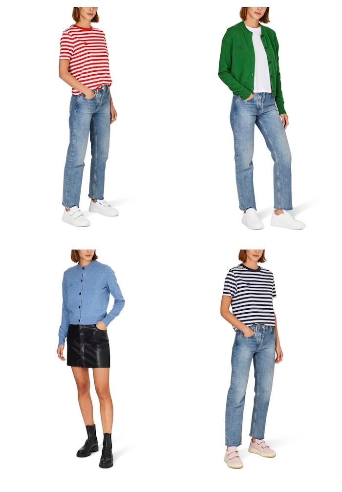 style outfit inspiration acne studios sweater in grün und blau casual acen t shirt blau weiß rot weiß