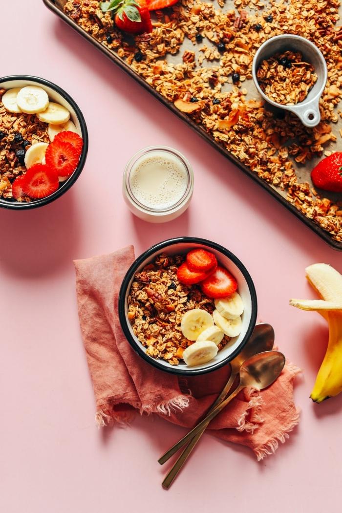 was ist granola müslifrühstück mit früchten gesundes müsli bestes rezept frühstück zum abnehmen