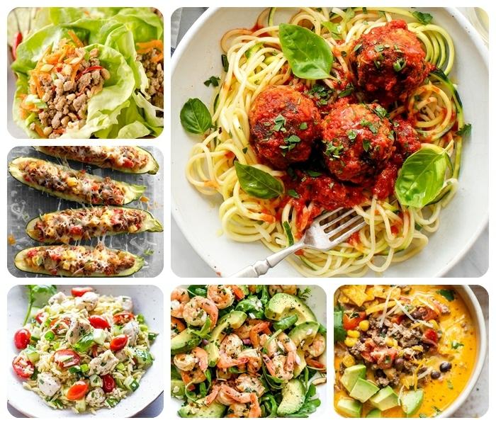 0 abednessen ideen fleischklößchen mit pasta basilikm und tomaten reis mit gemüse gefüllte zucchini low carb tacos mit truthahnfleisch suppe