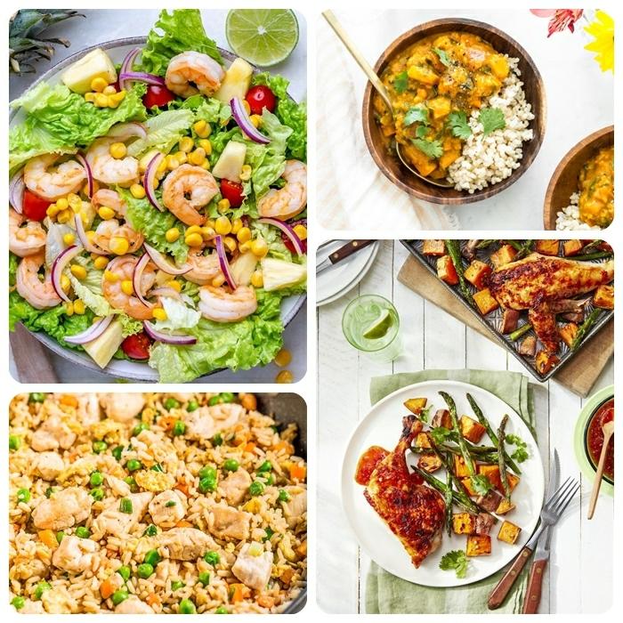 0 abendessen ideen gesund essen einfache rezepte für jeden tag reis mit gemüse risotto gesunder salat mit garnelen