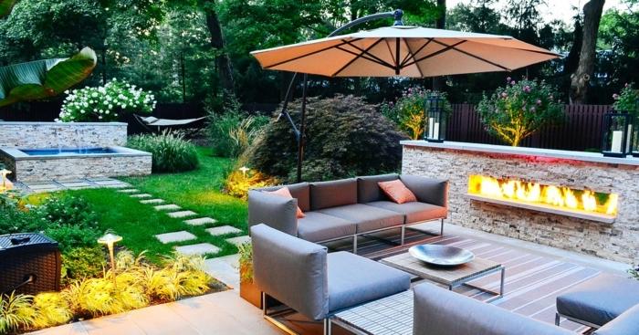 0 ideen für den garten gartengestaltung ideen hintergarten gestalten moderne gartenmöbel
