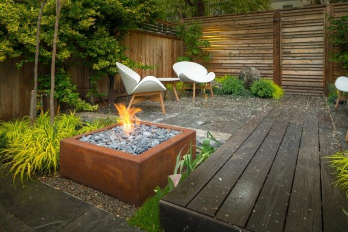 0 ideen für den garten kleiner außenbereich gestalten hintergarten gestalrungsideen moderne feuerstelle