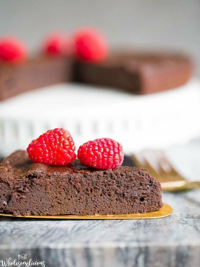 0 kuchen ohne mehl und zucker schokokuchen rezepte kuchenrezepte schokoladenkuchen mit himbeeren nachtisch ideen