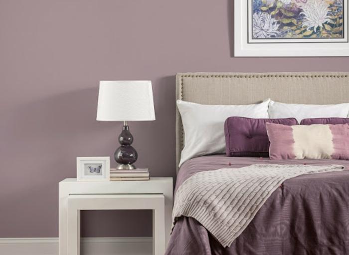 0 mauve farbe wohnung einrichten trendige wandfarben schlafzimmergestaltung in helllila