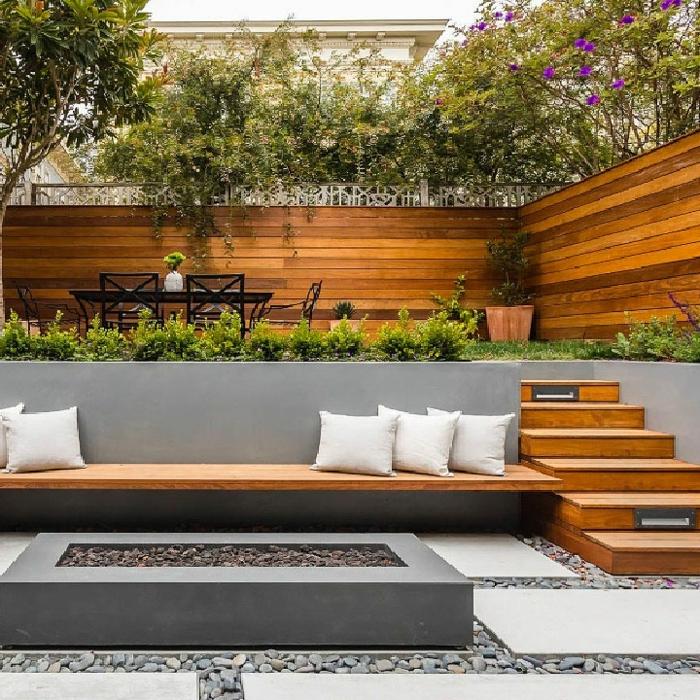 1 kleine gärten gestalten hintergarten beispiele sichtzschutz aus holz