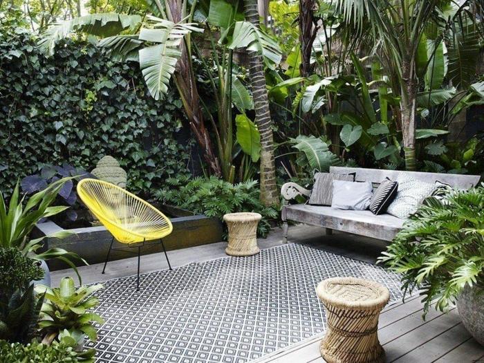 1 kleine gärten gestalten moderne gartengestaltung mit pflanzen sichtschutz beispiele gartenmöbel